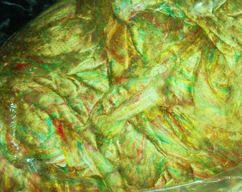 lot #16-A 1 oz mulberry silk roving, spinning fiber, art yarn, needle felting,tussah,sari, recycled
