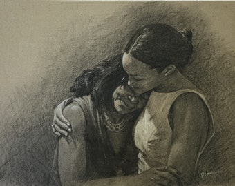 Custom Portrait in charcoal from your Photo