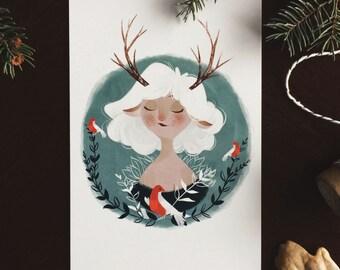 Antlers 6x4 postcard print