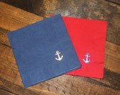 25 or 50 Anchor Cocktail/Beverage Napkins with foil