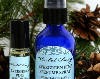 Organic Pine -  Evergreen Pine Perfume - Organic Perfume Spray - Essential Oils - Natural Perfume - Essential Oil Perfume - Pine Rollerball