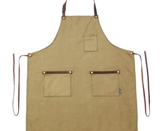 Industry Full Apron - Standard Canvas - Tan