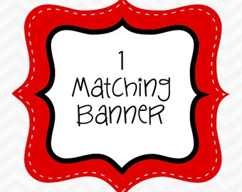 Add a matching BANNER to your order. (Printed, assembled and shipped to you)