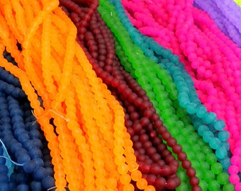 Frosted Beads, 1 Strand, 8mm