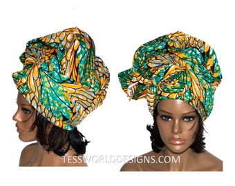 Extra Long African Head scarf/ African head wrap for women/ Head wrap/ African Head Scarf/ African scarf wrap HT131