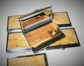 Exotic Birds eye maple wood business card case. Wood card case, gift for men and women. Blocks RDIF scanners.