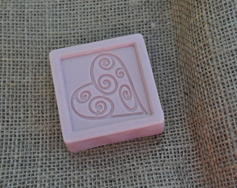 Valentine's Embossed Peppermint Soap