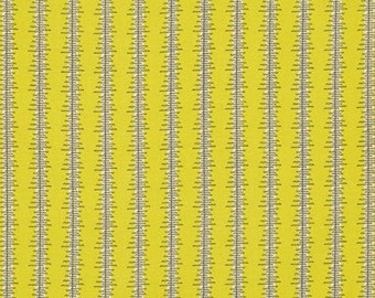 SALE Heatwave Stripe Lime by Denyse Schmidt Eastham Green Fabric - Free Spirit Fabric - Denyse Schmidt - Lime Green Fabric Black Stripe