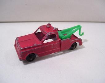 Vintage Midgetoy Tow Truck Wrecker, Die-cast Metal Truck, 1960'S