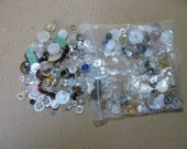 Clear to semi clear button lot set over 200