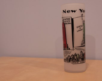 Vintage Souvenir Glass- New York City