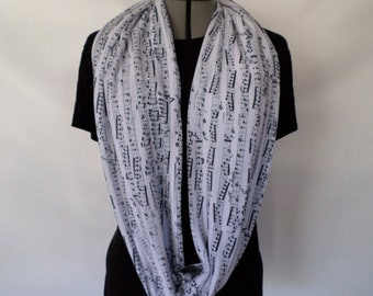 Sheet Music / Music Lovers Infinity Scarf