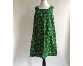 Vintage flower power dress- plus size