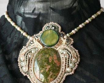 Necklace green Princess