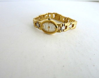 Helbros Womens Quartz Watch Gold And Silver Tone