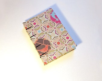 Geometric and Floral A6 Coptic Sketchbook