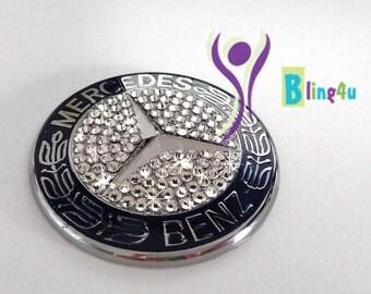 Emblem for Mercedes Benz Hood Badge made with Swarovski cristal elements A2048170616