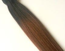 Human Hair Dark Brown To Light Brown Full Set Clip-In Extensions Double Weft Thick Silky Human Hair Extensions In Stock READY TO SHIP