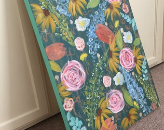 20x30 warm floral
