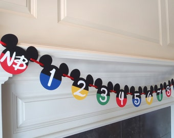 Mickey Mouse Clubhouse Photo Banner First Year Birthday by FeistyFarmersWife