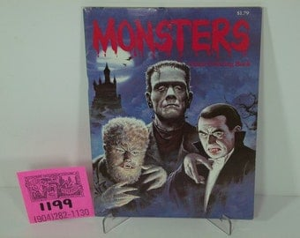 "1970's Universal Studios ""Monsters"" Coloring book"