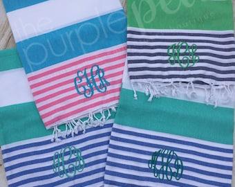 Turkish Towel-Monogrammed, Monogrammed Towel, Beach Towel, Graduation 2017