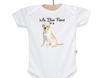 Lab Shirt, Lab bodysuit, Dog Shirt, Dog bodysuit, Best Friend is a Lab Shirt, Best Friend bodysuit
