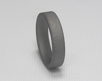 Titanium Wedding Ring or Band Sandblasted