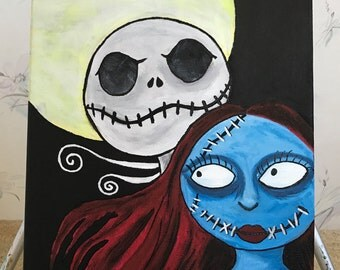 11x14 Nightmare before Christmas acrylic painting