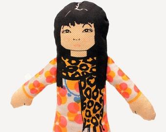 fabric rag doll | doll for girls | girl rag doll | hand made doll | soft toy | cloth doll