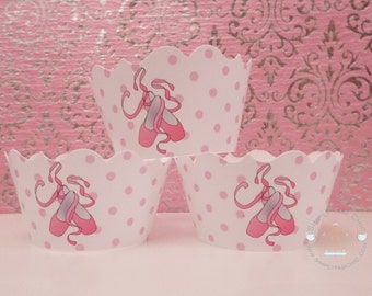 Ballerina Cupcake Wrapper | White and Pink Cupcake Wrapper