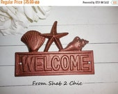 SALE SALE / COPPER / Sign / Plaque / Welcome Sign /  Costal Decor / Strafish / Seashell /  Nautical Sign