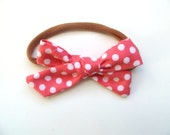 Hand Tied Hair Bows/One Size Fits All/Valentine's Day Bows/Polka Dot Bows/Little Girl's Bows