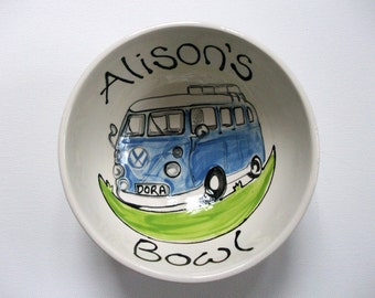 Personalized Cereal Soup Bowl for Christmas Campervan, Marmite,Nutella,Tractor