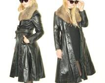 Fur coat / Leather Coat / Matrix coat / Gothic coat / steam punk coat / long coat / penny lane coat