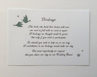 Wishing Well/Birdcage Cards (20 Pack) , Wedding, Engagement (#3)