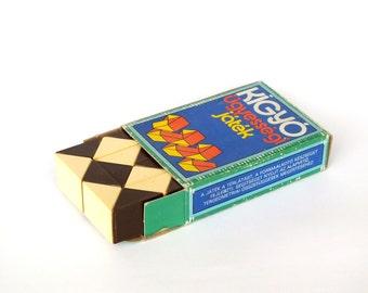 Real Hungarian Rubik's Snake 80s In Its Original Box. Vintage Rubik's Twist, Rubik's Transformable Snake, Rubik's Snake Puzzle. Rubik's Cube