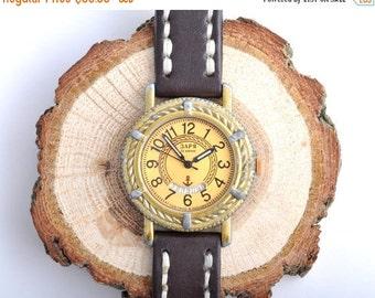 "Soviet watch , Russian watch, Vintage Watch ,Mens watch, classic watch, Watch Men, boyfriends watch ,Gold Watch ""Zaria """