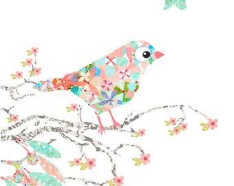 nursery art,nursery wall art,baby girl art,children's art,bird decor,baby decor,nursery decor,baby girl art,girl nursery art,nursery decor