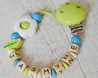 Baby pacifier clip, flower pacifier clip, pacifier holder, lime pacifier clip, baby girl pacifier clip,  pacifier holder, smoothie clip,