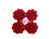 "1"" Mini Burgundy Felt Flowers- You Choose Quantity- Diy Headband Supplies- Flower- Wholesale- Supply Shop"