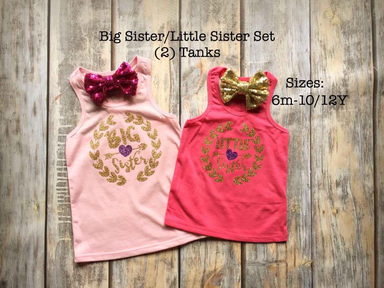 Big sister shirt little sister shirt birth announcement for Big sister birth announcement shirts