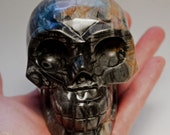 Picasso Jasper Crystal Skull Giant Sized Hand Carved 4 inches long! Increase Trust, Nurturing Energies! Discounted