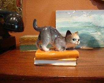 Cat on a Book Figurine Simson