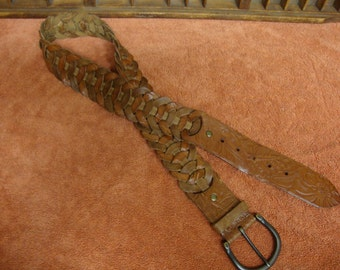 Fossil Woven Leather Belt Medium