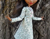 "Beautiful ""Dainty Floral"" Dress Only Fits Ever After or Monster Dolls Designer OOAK Doll High Fashions Mh / Eah Custom Clothes"