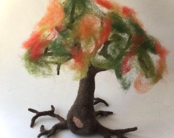 Tree suitable for every season.Seasonal, 4 Seasons, Spring- Summer-Autumn-Winter,Waldorf,,Wet felted.