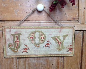 Joy - Metal Christmas Sign 50% OFF FREE shipping in USA