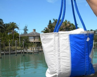Diver Down One of a kind Recycled sail cloth Sea Bag