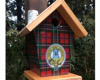 MacLean tartan and crest Birdhouse